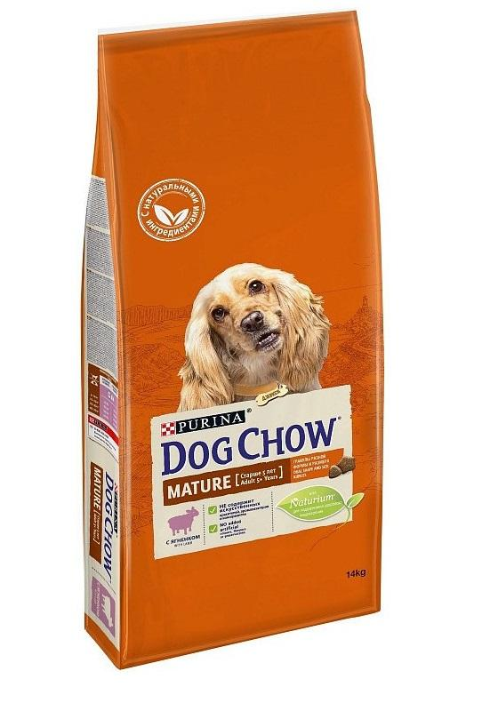 Dog Chow Mature Adult Для собак старше 5 лет (ягненок) 14кг